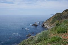 USA West coast. Showing the north pacific ocean in California Royalty Free Stock Photo
