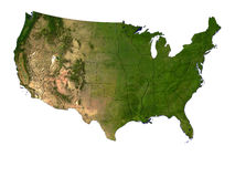 The USA On White Background. 3D Render Of The USA On White Background Showing State Borders Stock Photos