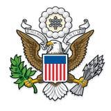 USA Wielka foka Łysy Eagle ilustracja wektor