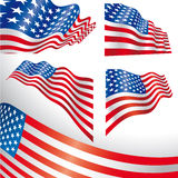 USA windy flags Royalty Free Stock Photos