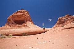 USA - woman in Arches national park Stock Images