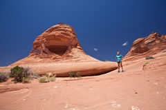 USA - woman in Arches national park Stock Image