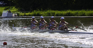 USA Woman's Quadruple Sculls Stock Photo