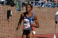 USA Womens Track runner comming to finish line Royalty Free Stock Photos