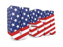 USA word 3d Stock Photography