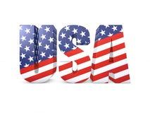 USA word 3d. Render illustration Royalty Free Stock Photos