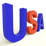 Usa Word As Symbol For America And Patriotism Stock Images