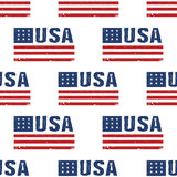 USA word flag pattern backgrouond. Seamless Royalty Free Stock Photo