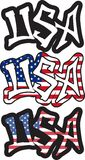 USA word graffiti style. Vector illustration. Royalty Free Stock Photo