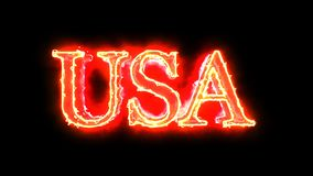 USA word red color 4K video overlay stock video footage
