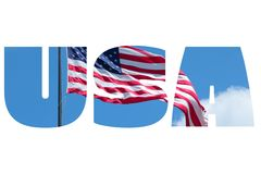 USA word Royalty Free Stock Photography