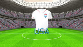 USA world cup message with jersey and text stock footage