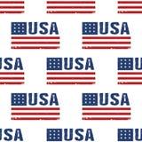 USA-Wortflaggen-Muster backgrouond nahtlos Lizenzfreies Stockfoto