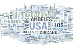 USA-Wortwolke lizenzfreie abbildung