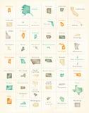 USA wszystkie państwo federalne przeglądu dodatek specjalny barwiący royalty ilustracja