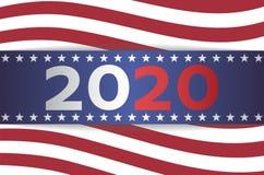 2020 USA wyb?r prezydenci sztandar ilustracja wektor