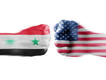 USA x Syria Royalty Free Stock Photo