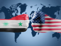 USA x Syria Stock Photo