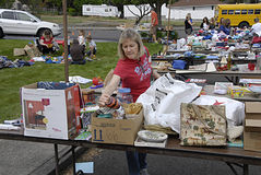 USA_yard sale Stock Photography