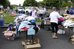 USA_yard sale Royalty Free Stock Photo