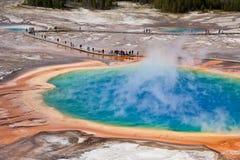 USA - Yellowstone NP - großartiges prismatisches Pool Stockfotografie