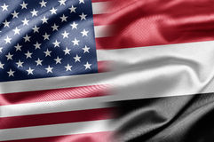 USA and Yemen Royalty Free Stock Image