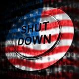 Usa zamknięcia guzika Polityczny rząd Zamykający Znaczy Krajowego Furlough ilustracji