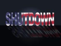 Usa zamknięcia słowa Polityczny rząd Zamykający Znaczy Krajowego Furlough ilustracji
