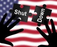 Usa zamknięcia wyrzynarki Polityczny rząd Zamykający Znaczy Krajowego Furlough ilustracji