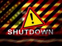 Usa zamknięcie Ostrzega Politycznego rzędu Zamykającego Znaczy Krajowego Furlough ilustracji