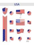 USA Zaznacza kolekcję zdjęcia stock