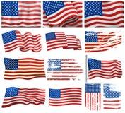 USA zaznacza wektoru set Zdjęcie Stock
