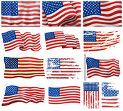 USA zaznacza wektoru set royalty ilustracja