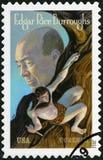 USA - 2012: zeigt Porträt von Edgar Rice Burroughs 1875-1950, Verfasser Lizenzfreie Stockfotos
