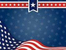 USA, Zlany stan Ameryka Falisty Chorągwiany tło ilustracji