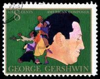 USA znaczek pocztowy George Gershwin zdjęcia stock