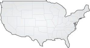 USA Zustandsgrenzkarte Stockfotos