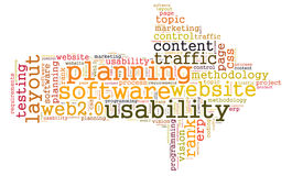 Usability word cloud Stock Image