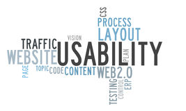 Usability word cloud Royalty Free Stock Images