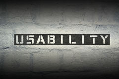 Usability WORD GR Royalty Free Stock Image
