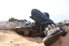 Usadas botas de vaquero imágenes de archivo libres de regalías