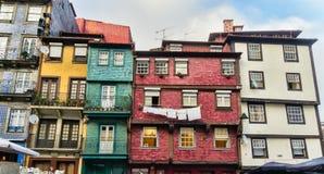 Usadas casas, Oporto, Portugal Fotografía de archivo libre de regalías