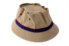Usado pescando o chapéu Foto de Stock