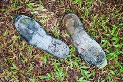 Usados zapatos Fotografía de archivo libre de regalías