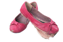 Usados zapatos viejos Fotografía de archivo libre de regalías