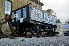 Usadowić węgla ciężarówka, usadowić, Yorkshire UK zdjęcie royalty free