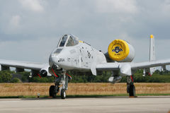 USAF A-10. VOLKEL, THE NETHERLANDS - JUNE 20: US Air Force A-10 Thunderbolt on display at the annual Dutch Air Force Open Day June 20, 2009 in Volkel, The royalty free stock photo