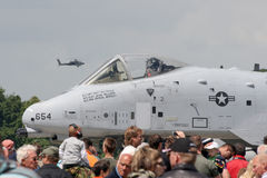 USAF A-10 Airshow. VOLKEL, NETHERLANDS - JUNE 20: USAF A-10A THUNDERBOLT on Royalty Free Stock Photos