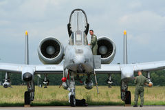 USAF A-10 military jet Stock Photo