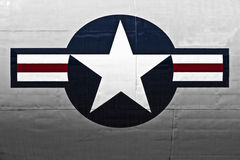USAF. LUQA, MALTA - 25 SEP - USAF emblem on fuselage of military aircraft Royalty Free Stock Images